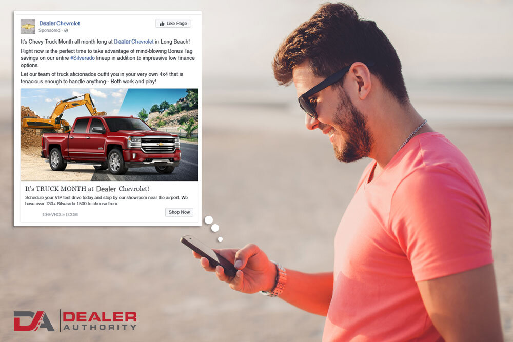Personalized Facebook Ads Sell Cars