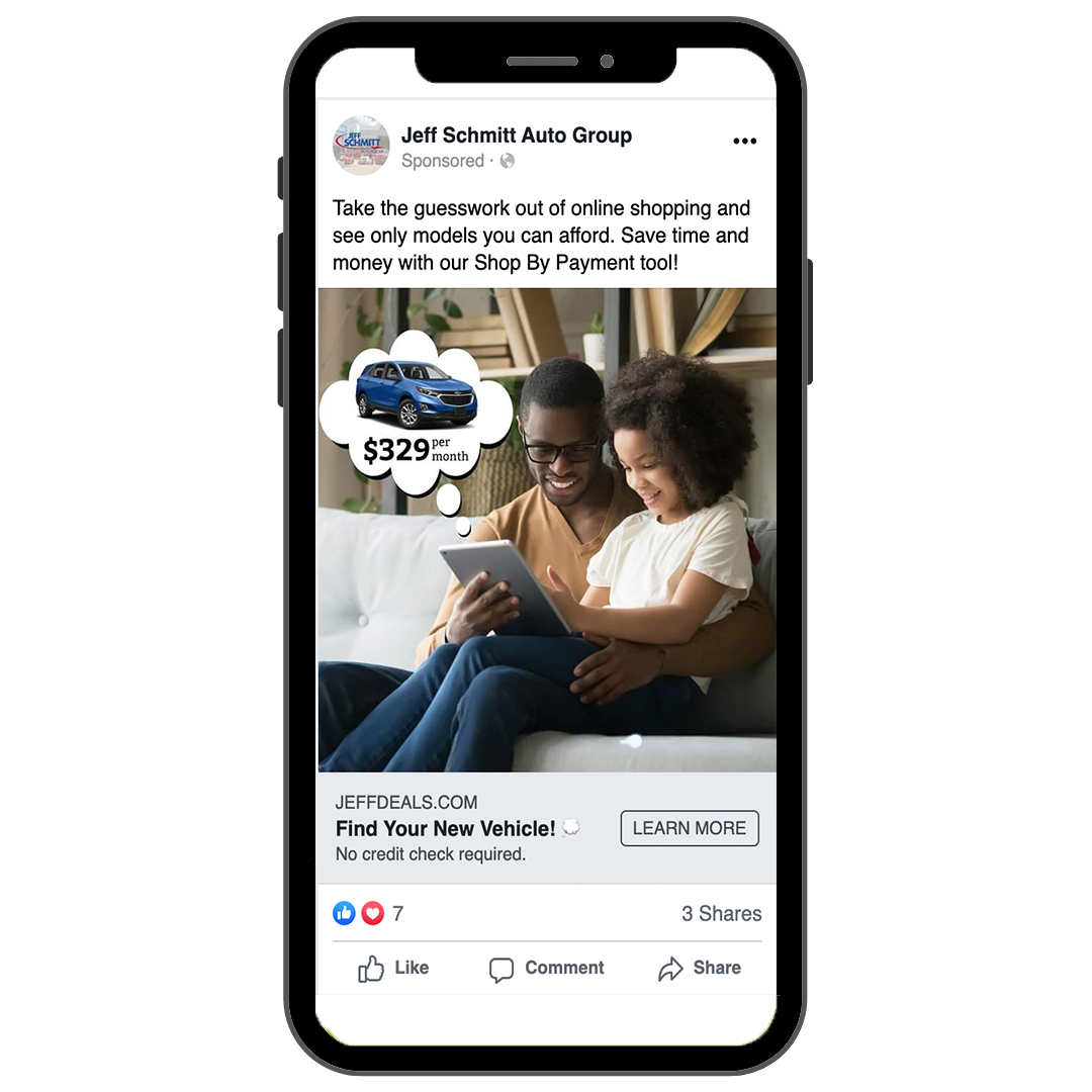 Example of a Facebook Ad on an iphone