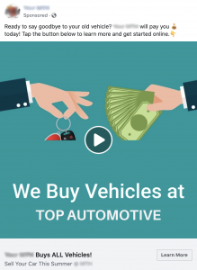 Dealer Authority Facebook Ad Example