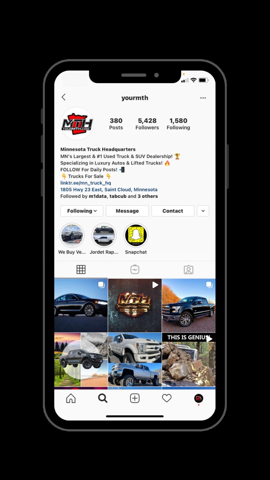 Automotive Instagram Example