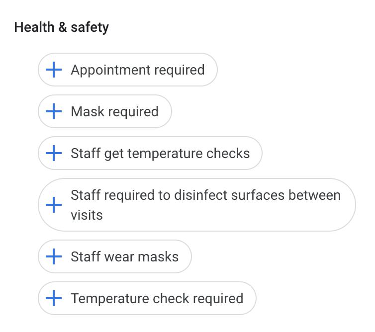 Google Attributes