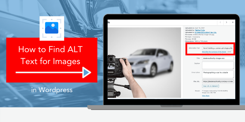 graphic showing where to add ALT text for images